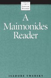 A Maimonides Reader