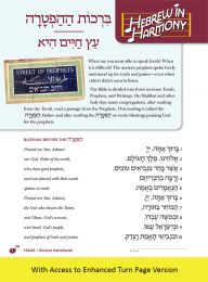 Hebrew in Harmony: Birchot HaHaftarah with Turn Page Access