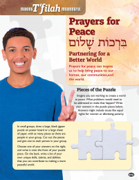 Making T'filah Meaningful, Prayers for Peace