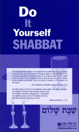 Do It Yourself Shabbat
