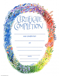 Completion Certificate -Seasons