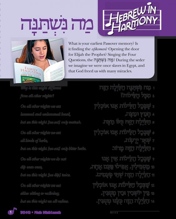 Hebrew in Harmony: Mah Nishtanah