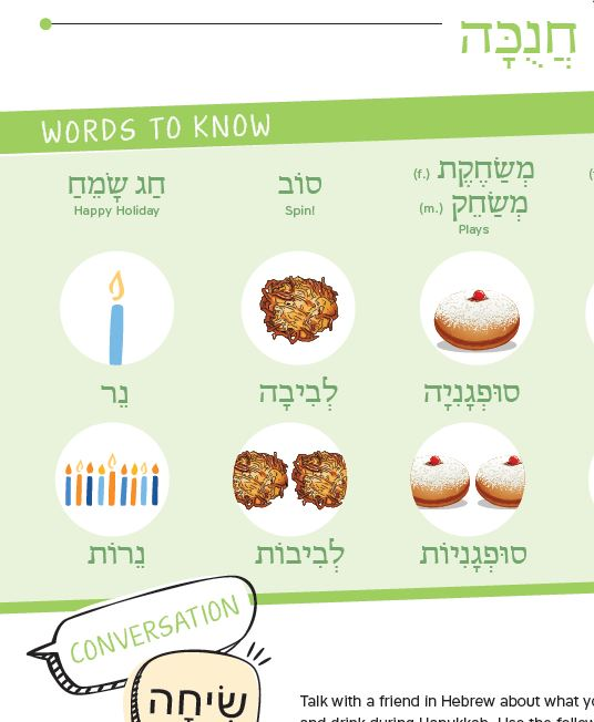 Bridge Hebrew Decoding and Meaning with New Hanukkah Resource