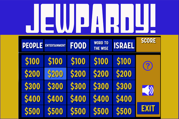 Jewish Trivia + Competition = Jewpardy